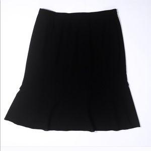 Black Flared Lightweight Skirt